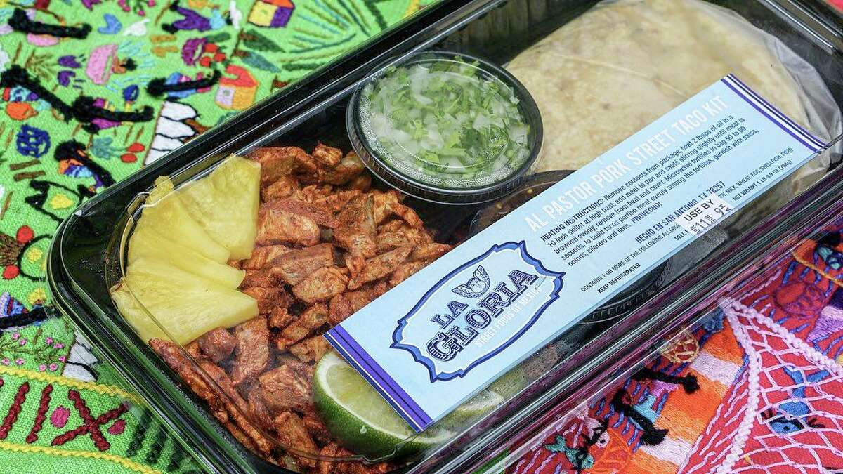In response to the restaurant industry challenges presented by the coronavirus crisis, grocery giant H-E-B is carrying fresh prepared foods like this tacos al pastor kit from chef Johnny Hernandez's San Antonio restaurant La Gloria.