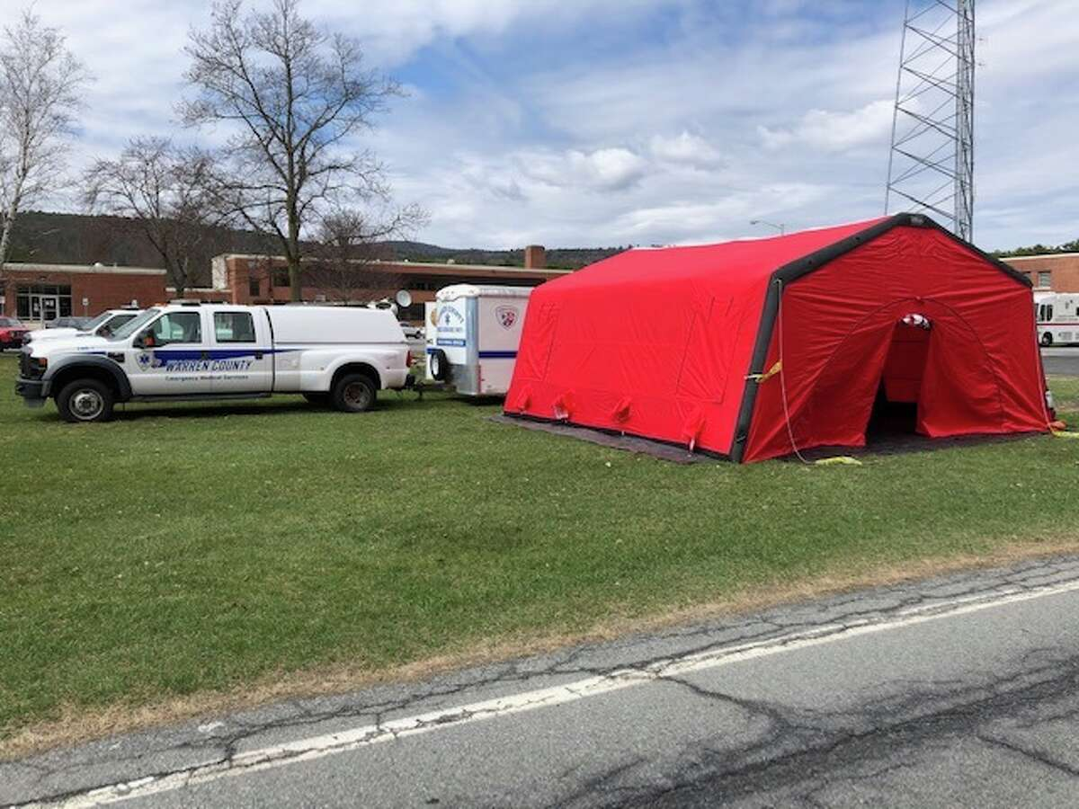 Glens Falls Hospital and Warren County Public Health Services teamed up to open a drive-up COVID-19 test site on the Warren County Municipal Center campus in Queensbury, N.Y. Testing will begin Thursday, April 9, 2020.
