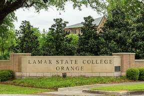 The sign for Lamar State College Orange in Orange. Photo made on April 2, 2020. Fran Ruchalski/The Enterprise