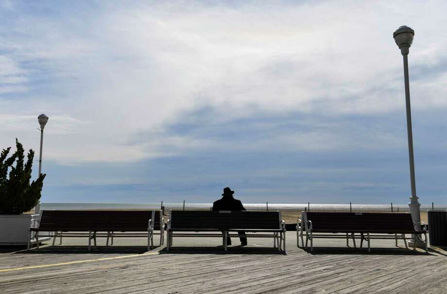 Stay-at-home orders have left popular spots such as the boardwalk in Ocean City, Md., largely deserted. Photographed April 8, 2020. Photo: Washington Post Photo By Ricky Carioti / The Washington Post