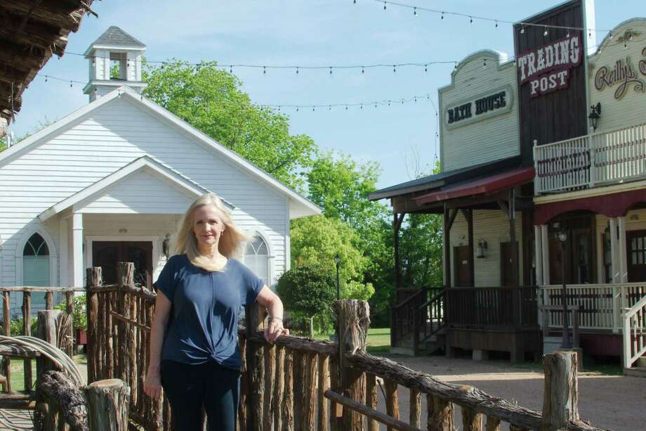 The Old West Main Street portion of Jackie Spigener's popular Silver Sycamore venue has been like a ghost town after restrictions related to the novel coronavirus pandemic led to rescheduling of weddings and other events. Photo: Kirk Sides / Staff Photographer / © 2020 Kirk Sides / Houston Chronicle