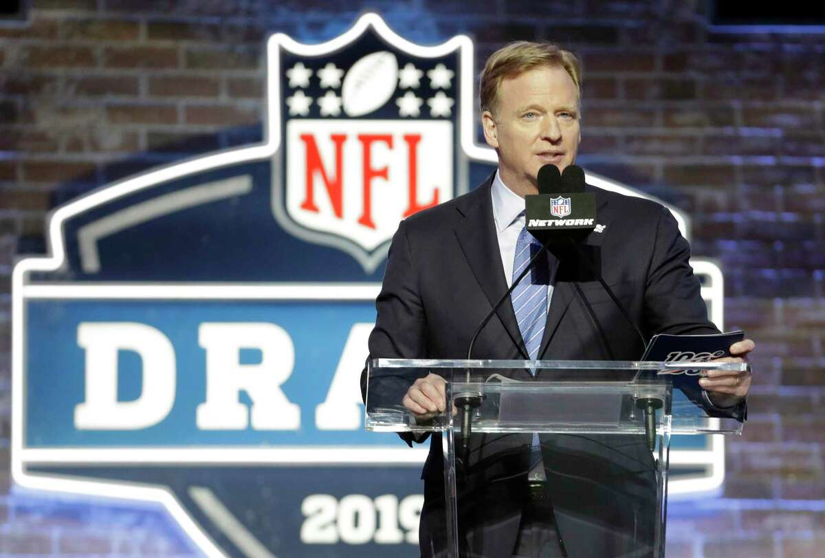 Instead of announcing picks from the podium as he did last year in Nashville, NFL commissioner Roger Goodell will be hosting the NFL draft from his basement in Bronxville, N.Y.