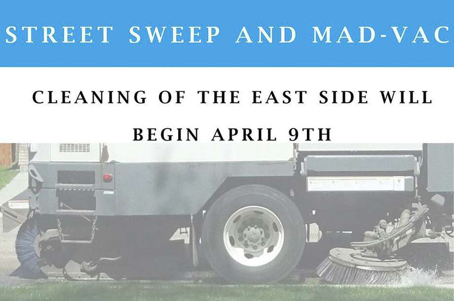 The city reminded residents in the area of the East Side where cleaning is scheduled to begin Thursday, April 9, 2020, to move their vehicles to the odd-side of the street. Photo: Contributed Photo / City Of Bridgeport
