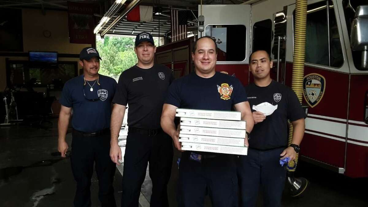 PHOTOS: See who are the Houston heroes of the coronavirus pandemic The Astros Foundation had Papa John's pizza delivered to all 92 Houston Fire Department stations as a show of gratitude for the firefighters' work
