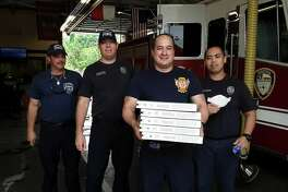 The Astros Foundation had Papa John's pizza delivered to all 92 Houston Fire Department stations as a show of gratitude for the firefighters' work