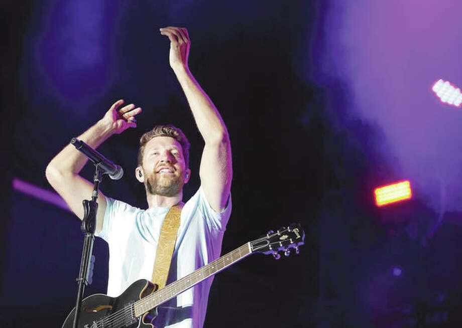 Brett Eldredge performs in August in Eastvale, California. Photo: Tibrina Hobson   Getty Images