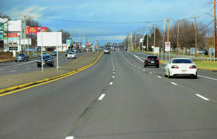 Light traffic in mid-March near the Connecticut Post Mall in Milford, Conn., a week after Gov. Ned Lamont declared a public health emergency that would lead to mall closures statewide. Photo: Christian Abraham / Hearst Connecticut Media / Connecticut Post