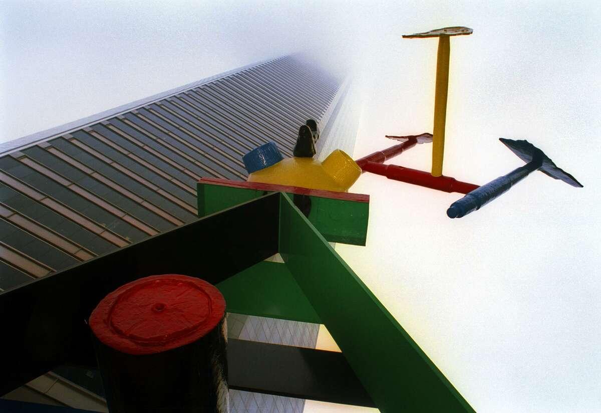 Joan Miro's abstract sculpture,