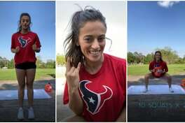The Home Stretch: Houston Texans cheerleader Torrey shows off a 5-minute total body workout.