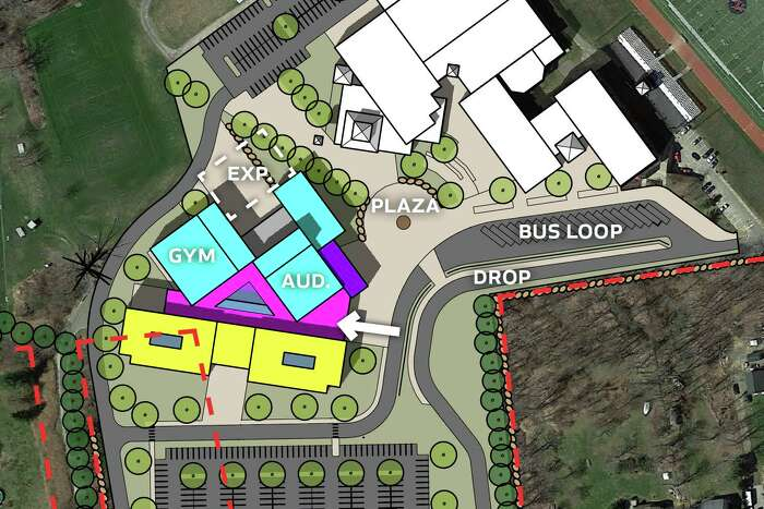 The alternate high school construction plan approved by the Permanent Building Committee on April 7, 2020, would utilize the 78 Gillotti Road property the town is in the process of trying to acquire.