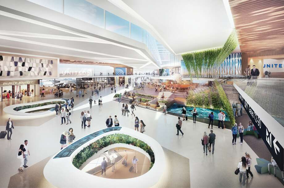 A rendering of the renovated Terminal 3 West area at SFO Photo: SFO