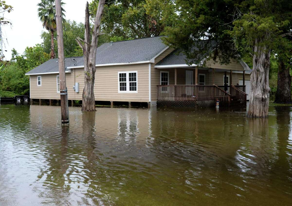 Flood waters from Tropical Depression Harvey near a Nome home on Monday. A neighbor said the water did not enter the home. Photo taken Monday, 9/23/19