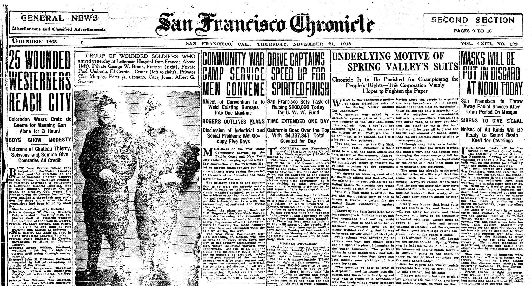 San Francisco's 1918 Spanish flu debacle: a crucial lesson for the ...