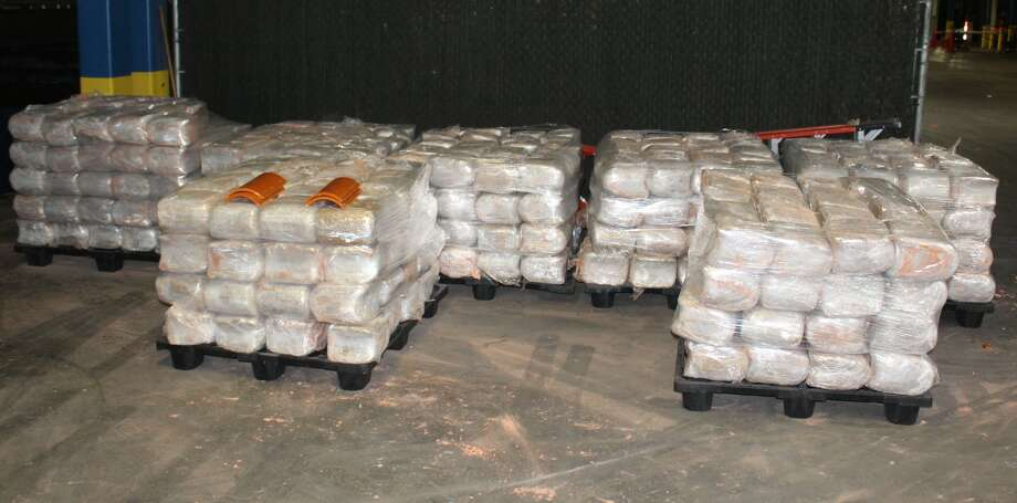 U.S. Customs and Border Protection officers seized 3,259 pounds of marijuana on Saturday at the World Trade Bridge. The contraband had an estimated street value of $651,856. Photo: Courtesy Photo