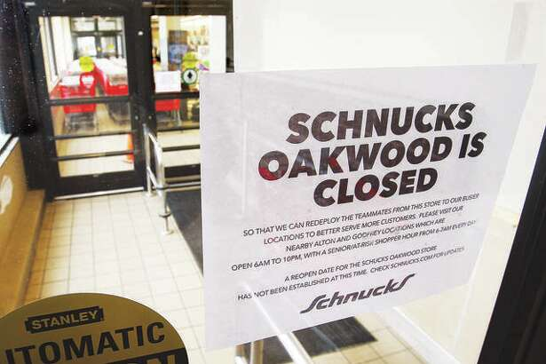 In this March 19 file photo, the Schnucks store at 1721 Homer Adams Parkway in Alton, also known as the Oakwood store, had closed to send workers to help at other Schnucks locations. Many people may know the location as the former Alton Shop n' Save store. Now, the location will close permanently as Schnucks reports poor sales since its October 2018 acquisition.