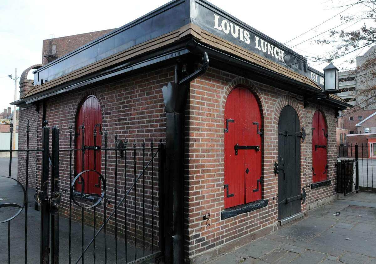Louis' Lunch on Crown St. in New Haven.