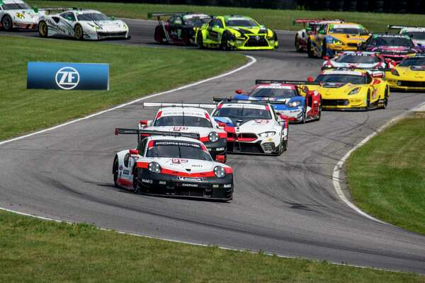 Racing at Lime Rock Park in Lakeville.