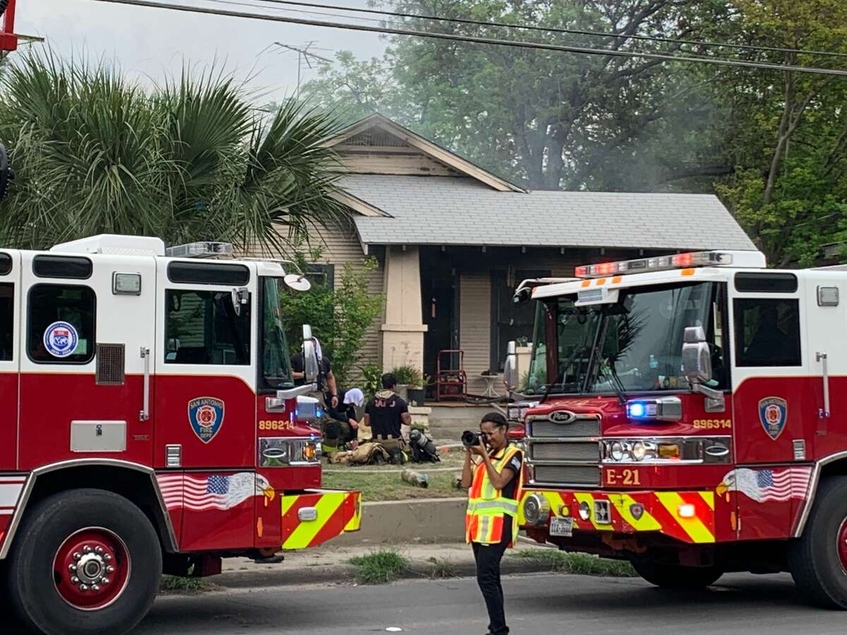 The San Antonio Fire Department responded to a single-story residence on the 5300 block of South Flores St. shortly after 3 p.m.