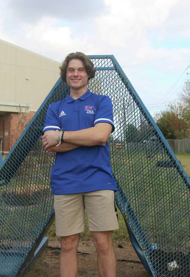 FBCA's Brooks Harrison may have unknowingly ended his high school career way back on March 13 when he hit .523 at the Franklin Tournament. He's working out, hoping for a resumption to the season, but if not, he's working out in preparation for a college ride. Photo: Robert Avery