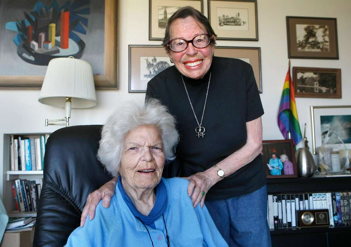 Phyllis Lyon (top) and Del Martin were the first same-sex couple to be married in San Francisco.