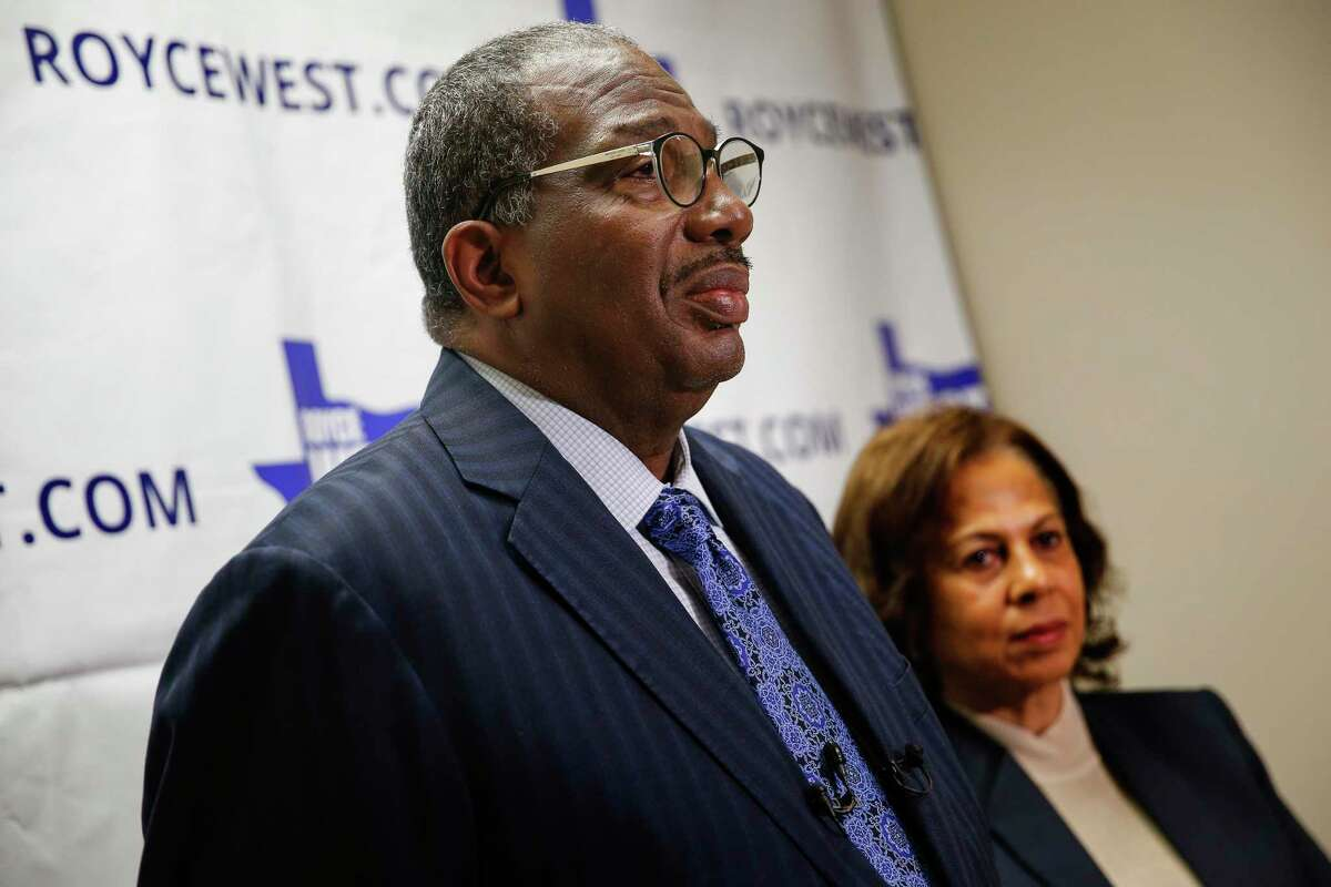 State Senator Royce West speaks to members of the media on Wednesday, March 4, 2020 at his office in Dallas. Democratic state Sen. Royce West of Dallas has survived to face a runoff in the Texas race for U.S. Senate - against MJ Hegar of Round Rock. Late Wednesday, after 24 hours of uncertainty about whether she or West would squeeze into the runoff, labor organizer Cristina Tzintzún Ramirez of Austin conceded.(Ryan Michalesko/The Dallas Morning News)