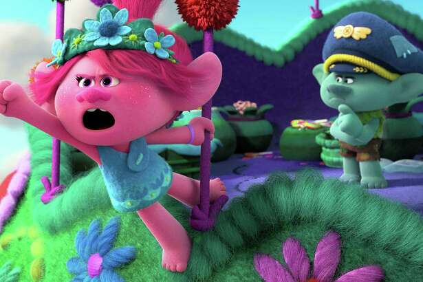 Poppy and Branch (voiced by Anna Kendrick and Justin Timberlake) are back in the movie 'Trolls World Tour.' (DreamWorks Animation/TNS)