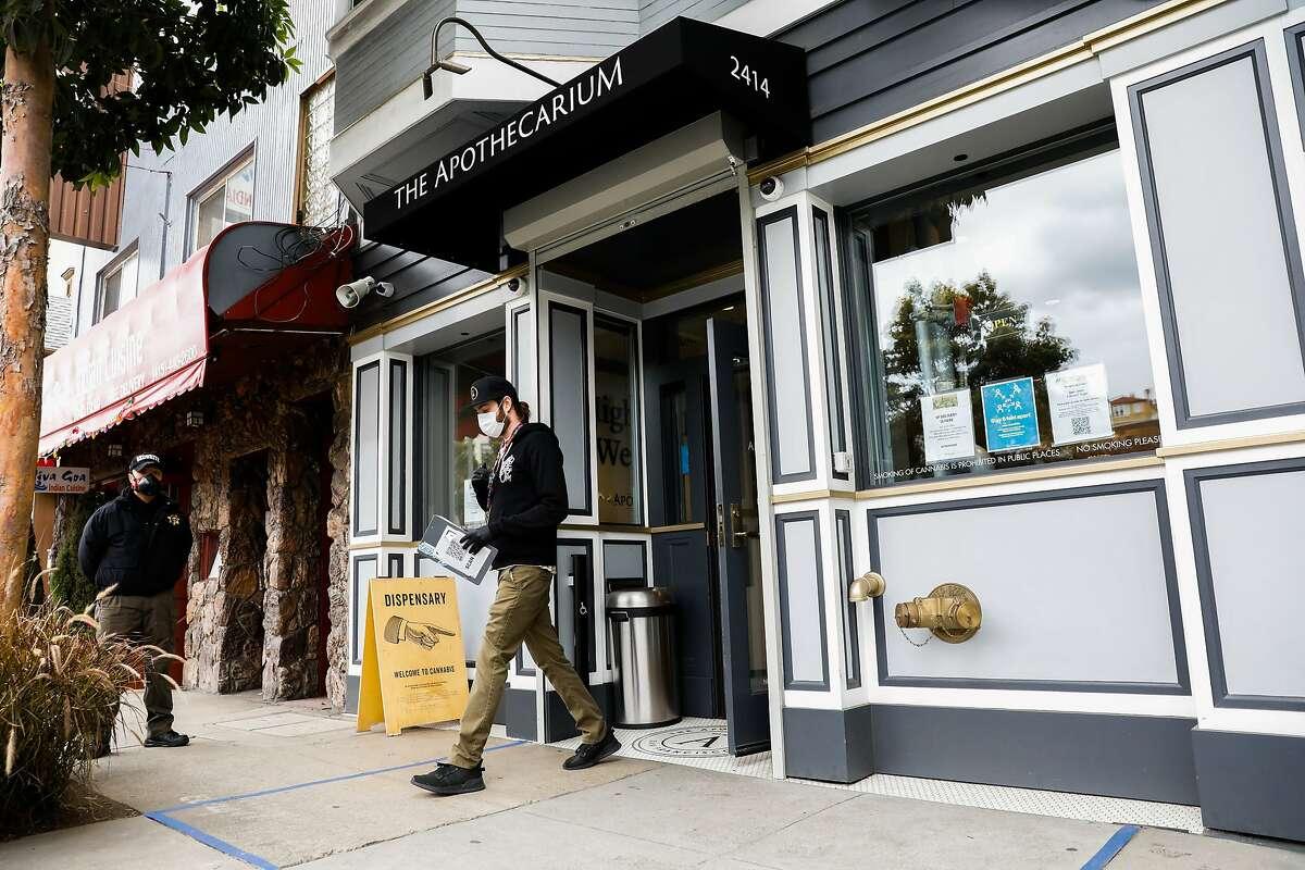 The Apothecarium dispensary where Phoebe McPherson buys her cannabis in San Francisco, California on Thursday, April 9, 2020.