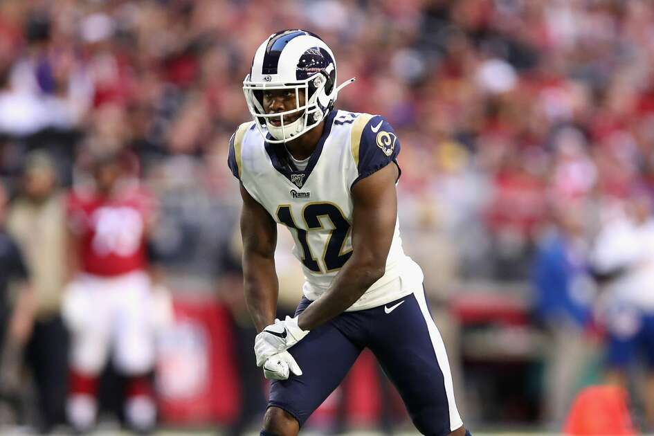 GLENDALE, ARIZONA - DECEMBER 01: Wide receiver Brandin Cooks #12 of the Los Angeles Rams in acduring the first half of the NFL game against the Arizona Cardinals at State Farm Stadium on December 01, 2019 in Glendale, Arizona. (Photo by Christian Petersen/Getty Images)
