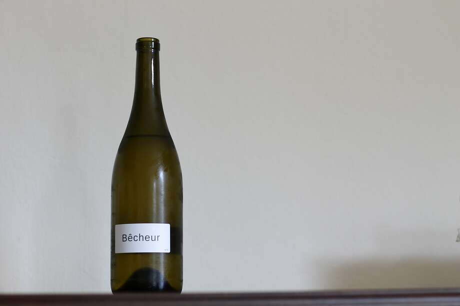 Chardonnay from Bêcheur, a new project from winemaker Michael Terrien that capitalizes on the bulk wine market's low prices. Photo: Esther Mobley / The Chronicle