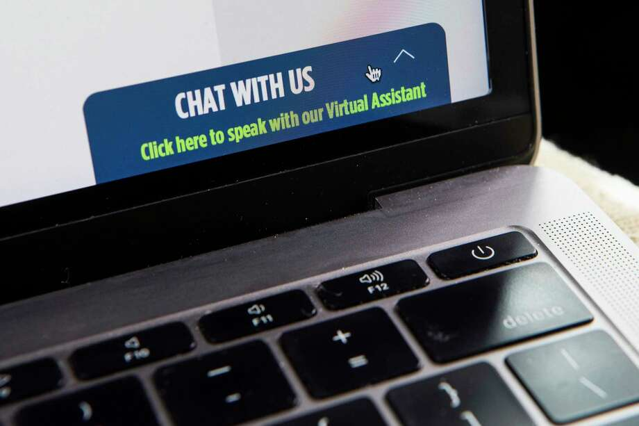The Texas Workforce Commission web site has added a virtual assistant chat feature to help people affected by COVID-19 on Tuesday, April 7, 2020 in Houston. Photo: Brett Coomer, Houston Chronicle / Staff Photographer / © 2020 Houston Chronicle