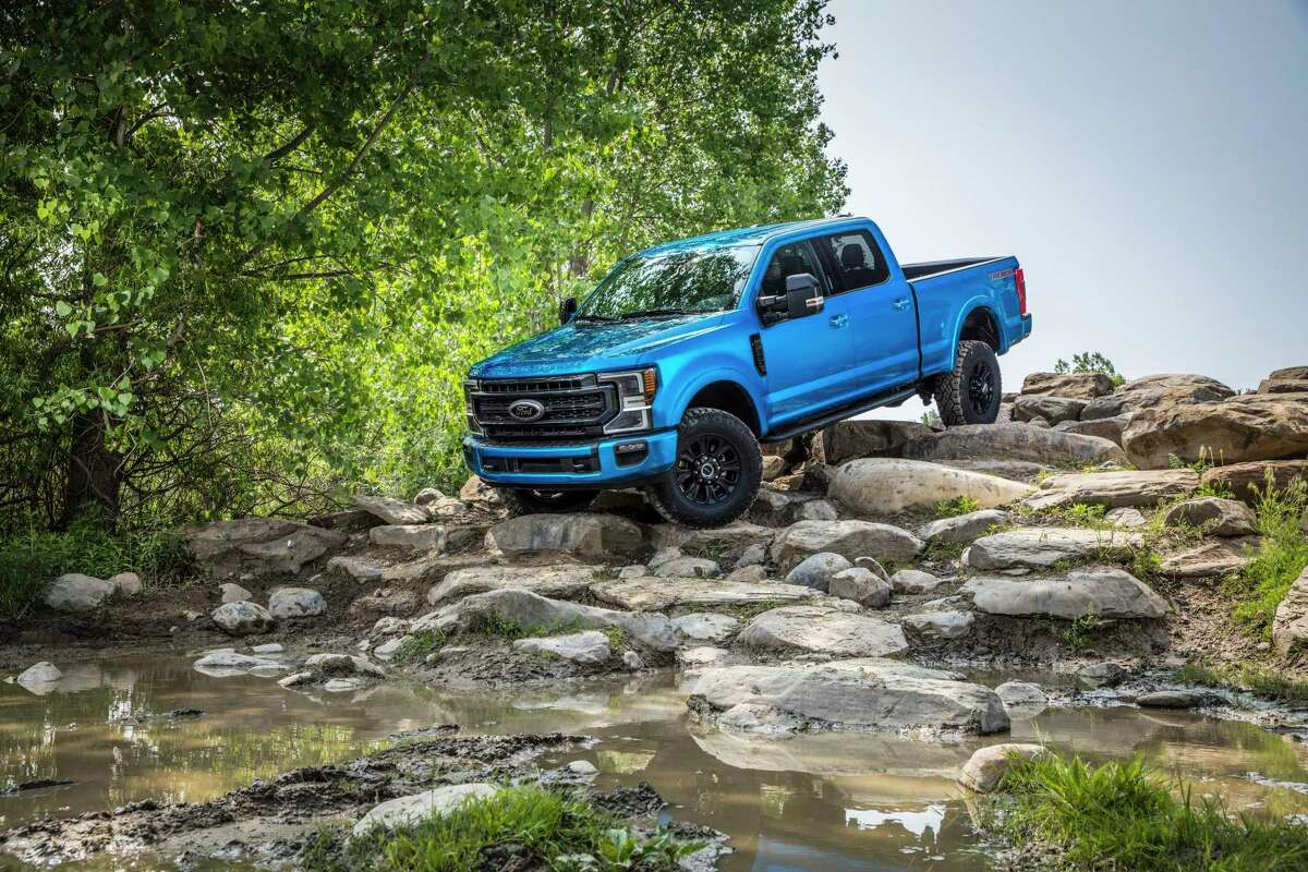 Ford Super Duty 4x4 crew-cab pickups are offered with a new Tremor Off-Road Package.