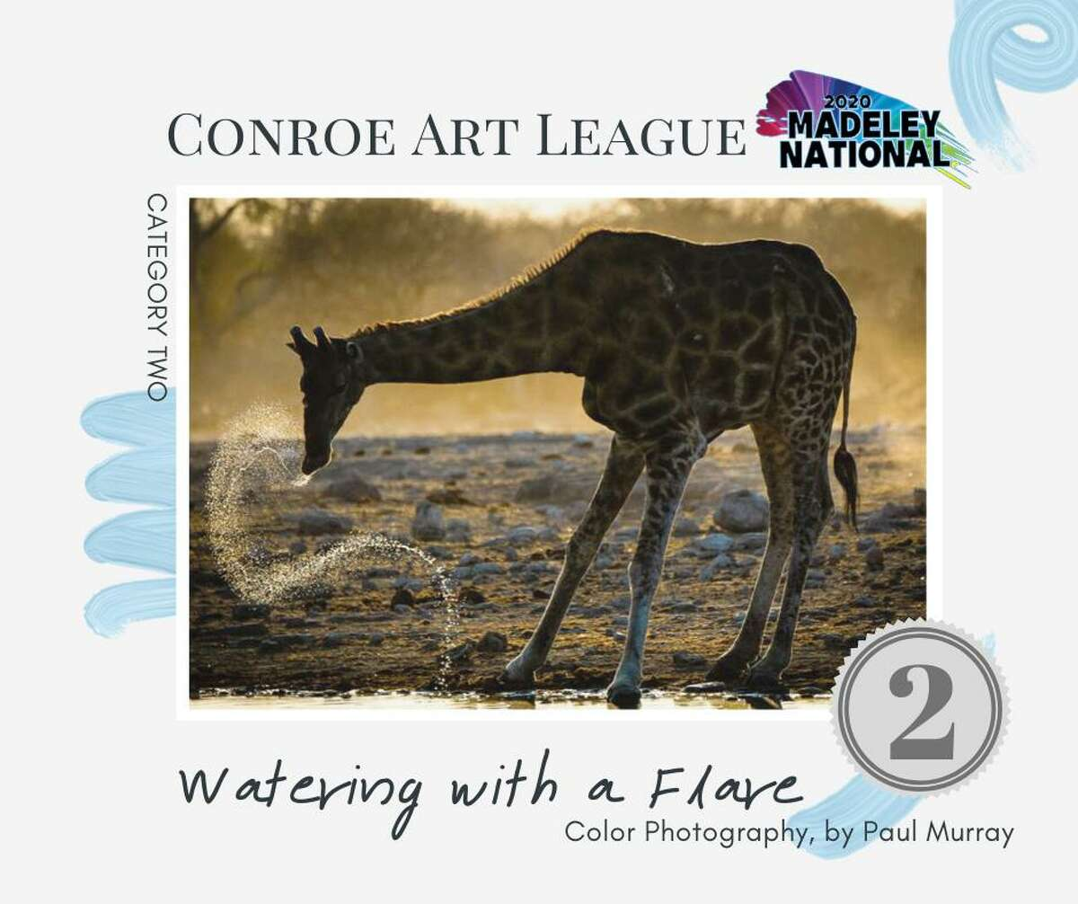"""Paul Murray's """"Watering with a Flare"""" photograph was awarded 2nd place in the Conroe Art League's 5th Annual Madeley National Show."""