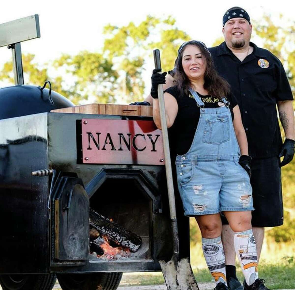 Daddy Duncan BBQ of Katy has received a $10,000 donation from Kingsford, the charcoal company that has pledged $250,000 to help 25 pitmasters across the country with their operations during the coronavirus pandemic. Shown: Sylvia and Randy Duncan, owners.