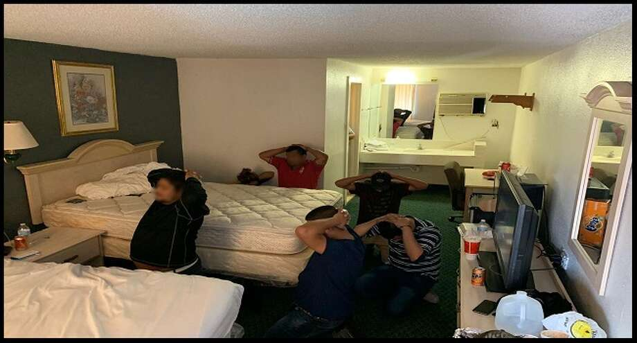U.S. Border Patrol agents said they discovered a group of illegal immigrants inside the room of a hotel on San Bernardo Avenue. Photo: Courtesy Photo