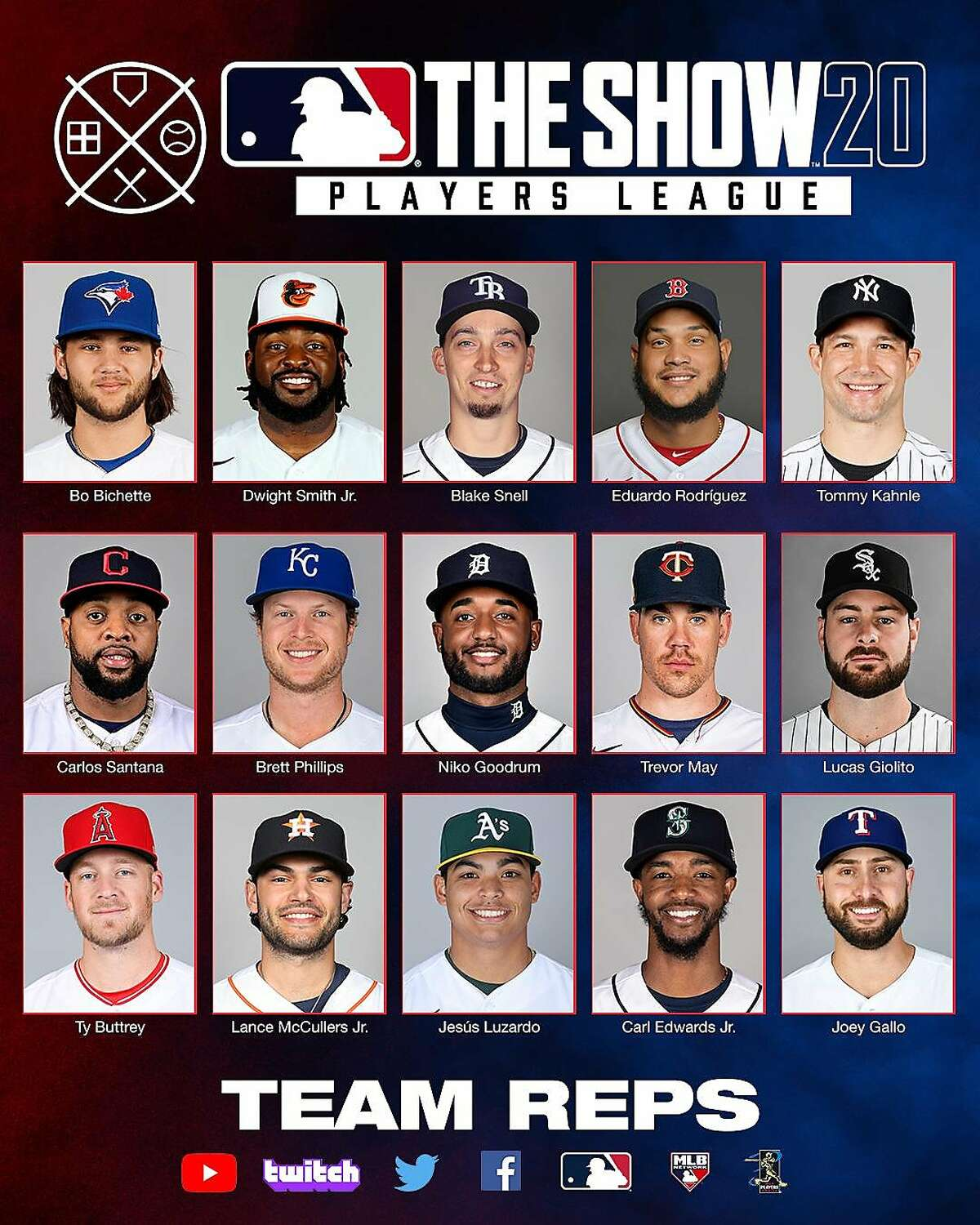 The American Leaguers in the videogame tournament