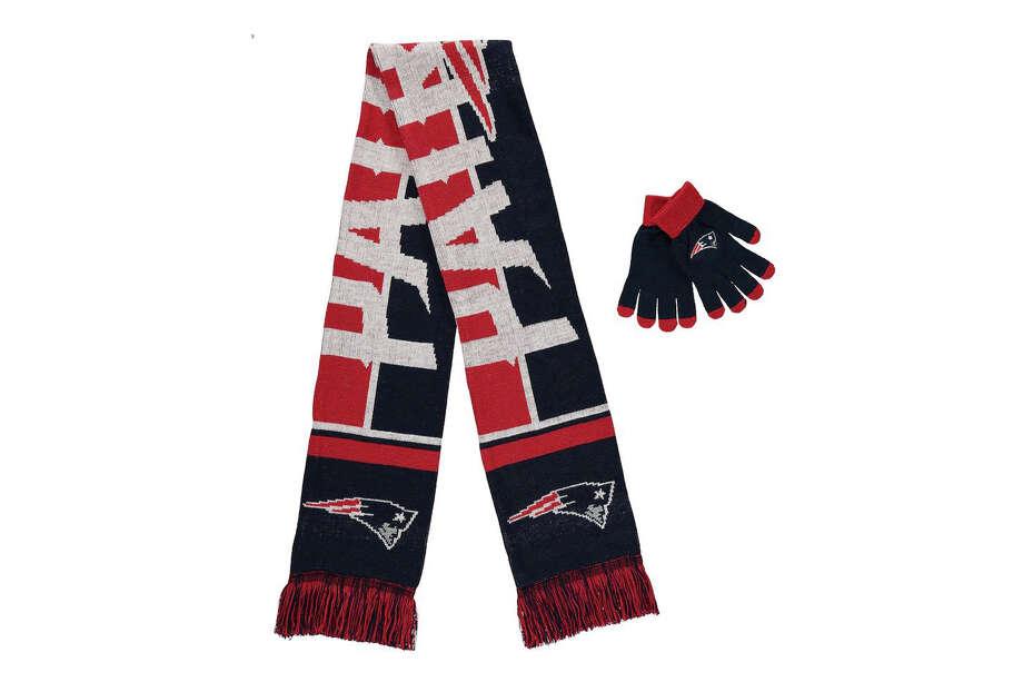 New England Patriots Team Gloves & Scarf Set, $19.79 Photo: Fanatics