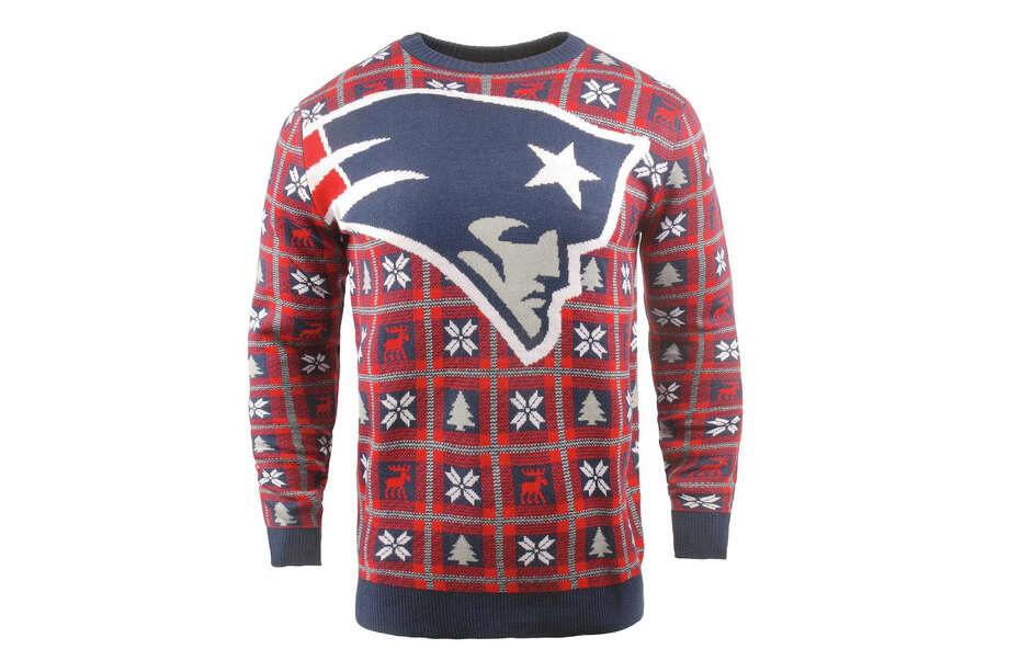 New England Patriots Big Logo Pullover Sweater, $39.99 Photo: Fanatics
