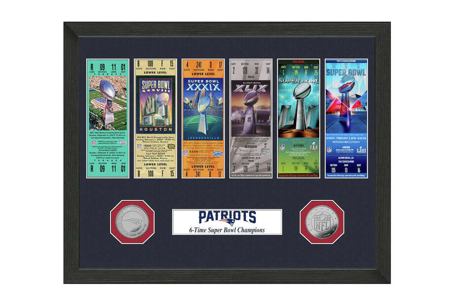 New England Patriots Highland Mint 6-Time Super Bowl Champions 12'' x 12'' Ticket Collection, $37.99 Photo: Fanatics