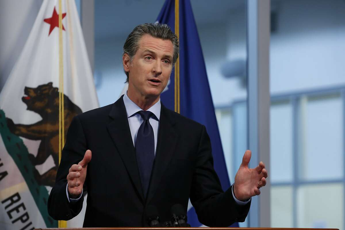 California Gov. Gavin Newsom announced that 150 hotels have agreed to give deep discounts to health care workers logging long hours in hospitals while dealing with the coronavirus outbreak, during his daily news briefing at the Governor's Office of Emergency Services in Rancho Cordova, Calif. Thursday, April 9, 2020. (AP Photo/Rich Pedroncelli, Pool)