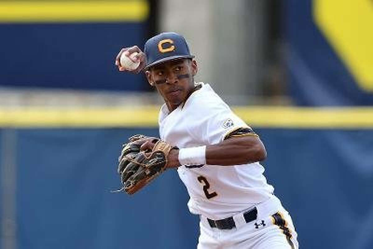 Second baseman Darren Baker of the University of California at Berkeley baseball team.