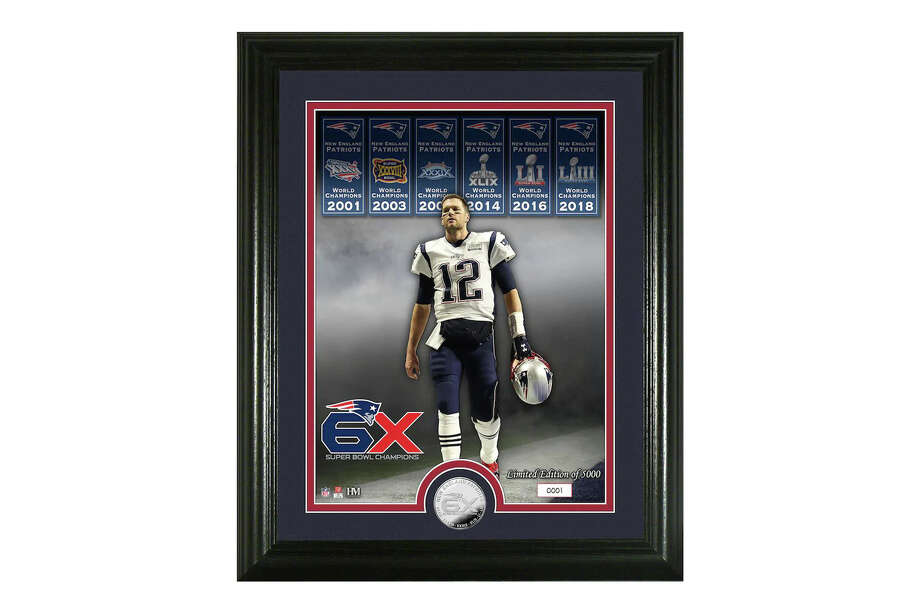 Tom Brady New England Patriots Highland Mint 6-Time Super Bowl Champions 13'' x 16'' Silver Coin Photo Mint, $31.99 Photo: Fanatics