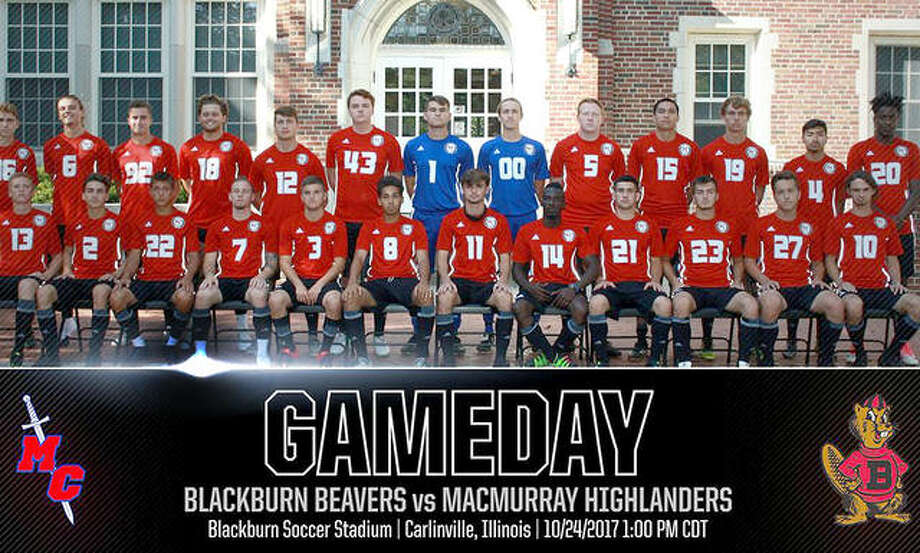 A Twitter graphic from Blackburn College promotes a rivalry 2017 men's soccer game between MacMurray College and Blackburn. MacMurray has announced it will close at the end of the spring semester. Photo: Blackburn Athletics