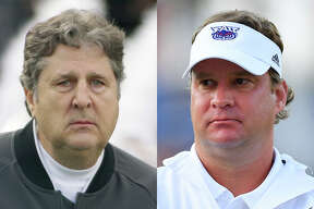 The arrivals of Mike Leach (left) at Mississippi State and Lane Kiffin at Ole Miss brings two of college football's more polarizing presences to the SEC's West division.