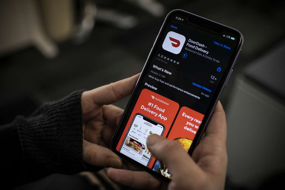 FILE-- Mayor London Breed announced Friday that there will be a cap on how much third-party apps can charge on commission fees to San Francisco restaurants during the ongoing coronavirus pandemic.
