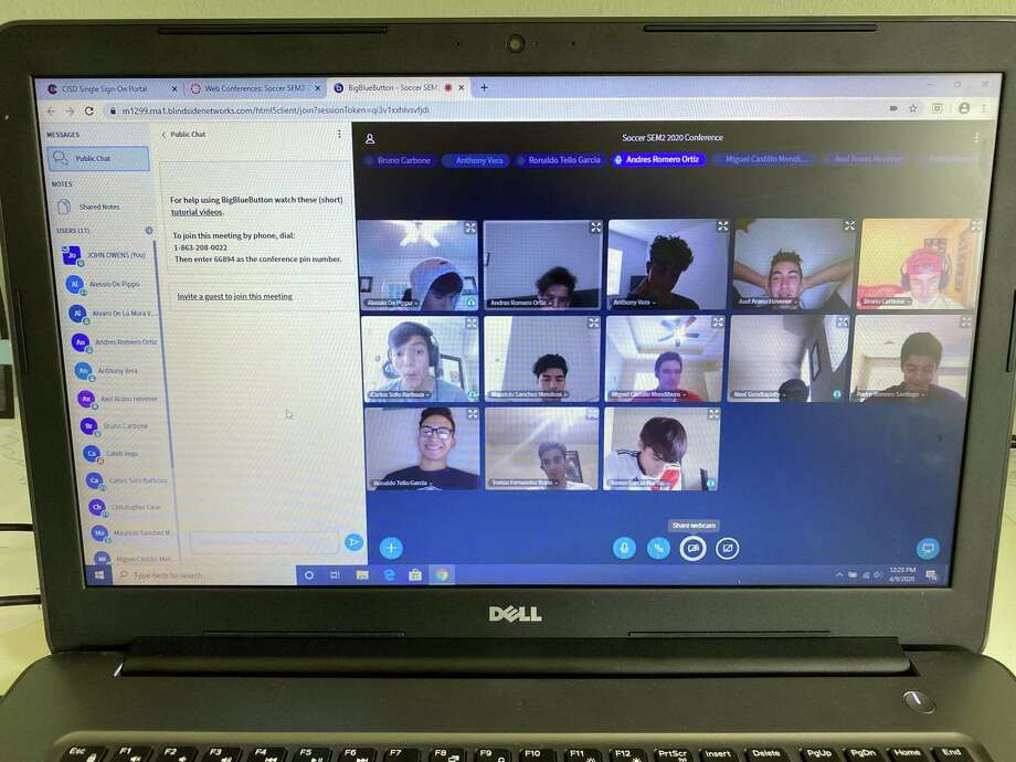 College Park boys soccer is among the many local teams that have moved team meetings online during the coronavirus pandemic. Photo: Submitted