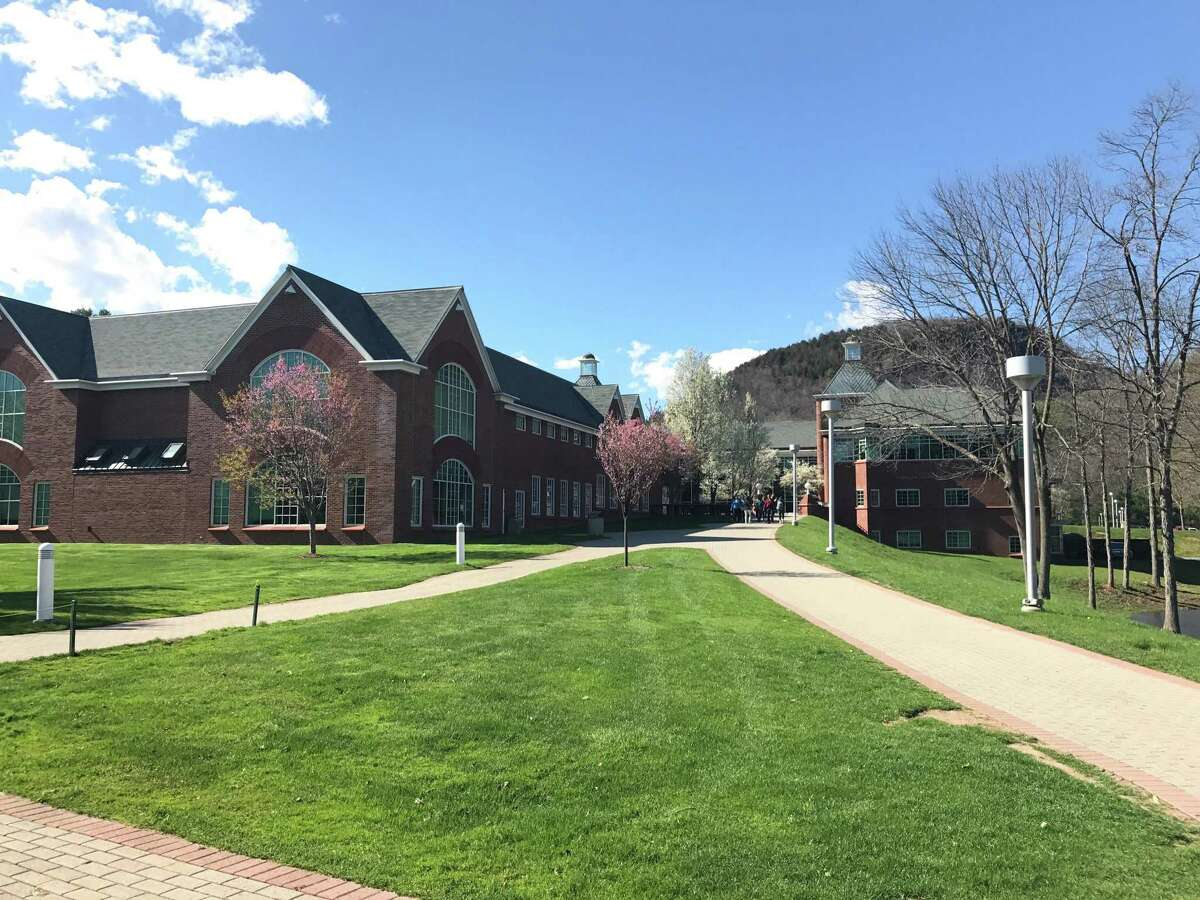 Quinnipiac University's Mount Carmel campus in Hamden. In Connecticut, officials say that they've been assured a new free tuition program at state community colleges will continue.