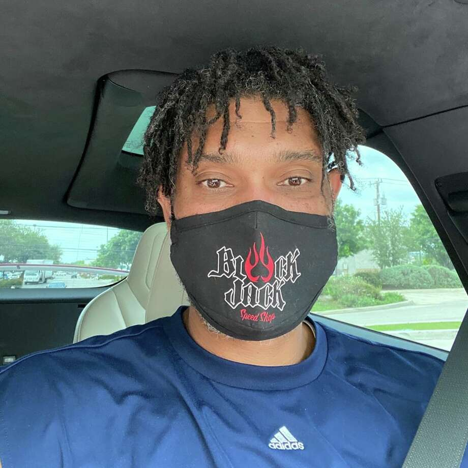 """""""A message from TD: Everyone please make sure to wear a mask or some kind of cotton facial protection as we all can make a difference in the fight against COVID19."""" Photo: Courtesy BlackJack Speed Shop"""