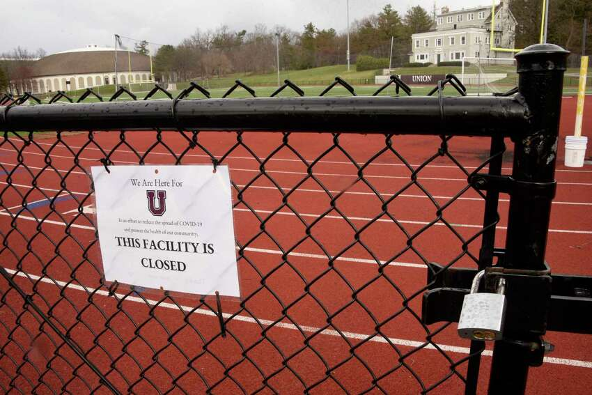 An empty Union College is seen on Friday, April 10, 2020 in Albany, N.Y. Colleges brace for financial fallout over COVID-19. (Lori Van Buren/Times Union)