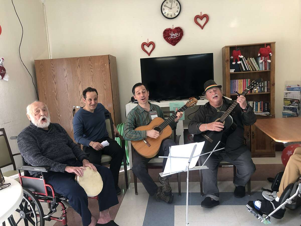 Alby Kass performs with his two sons in February at Gateway Care and Rehabilitation in a photo provided by his son Larry Kass. Alby Kass died on March 31 after succumbing to COVID-19. He is one of nine people whose deaths are connected to an outbreak of the virus at Gateway.
