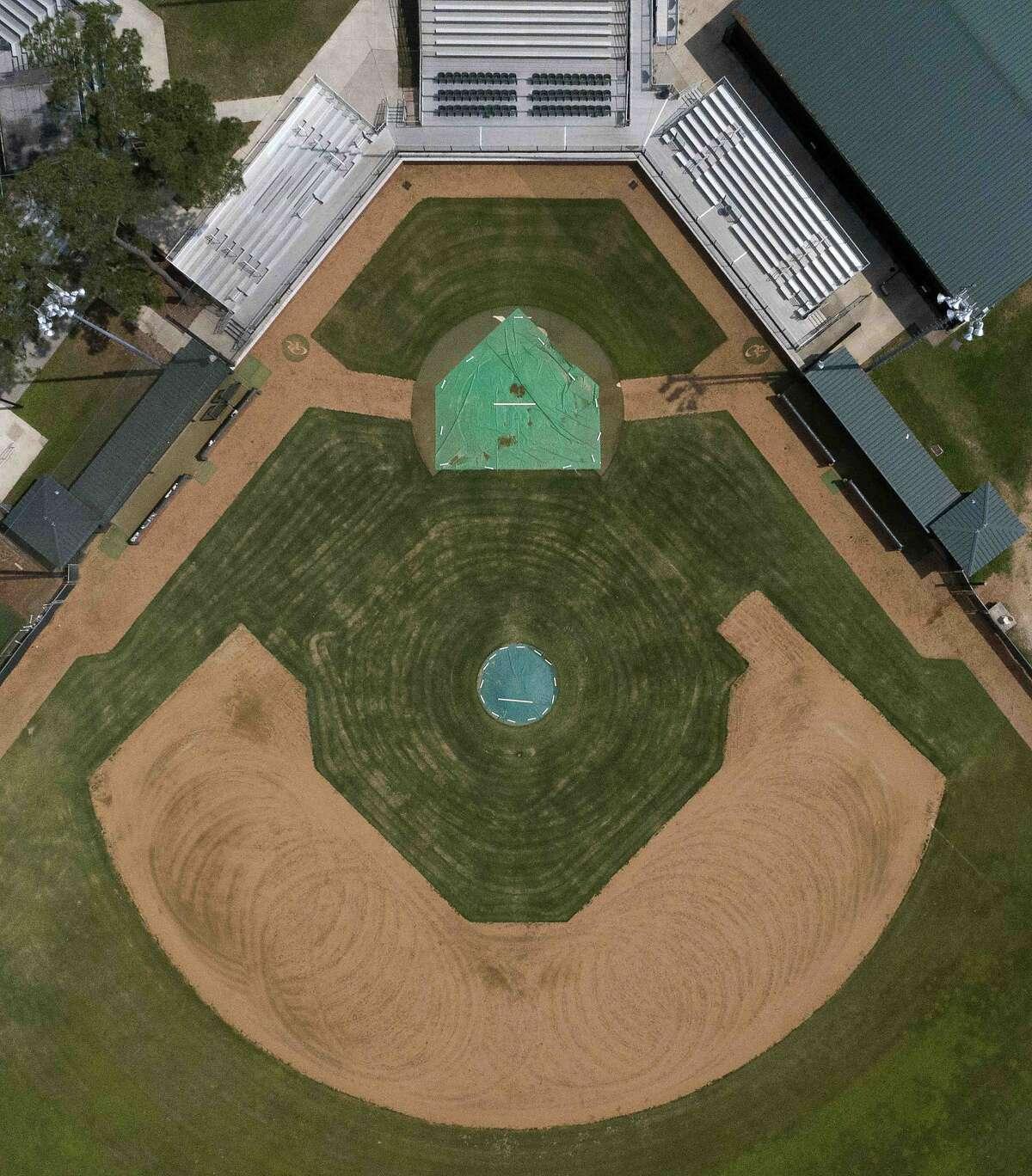 The baseball field at Oak Ridge High School are seen, Wedneday, April 8, 2020, in Oak Ridge.